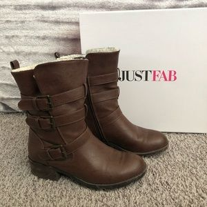Just fab mid calf boots size 6